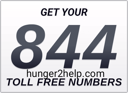 How can I get an 844 number?