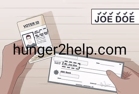 Depositing and withdrawing check without an ID